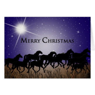 WESTERN STARRY NIGHT FOR HORSES - CHRISTMAS CARDS