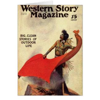 Western Story 1924 smoke signals Card