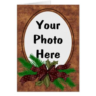 Western style Christmas Holiday Photo Card
