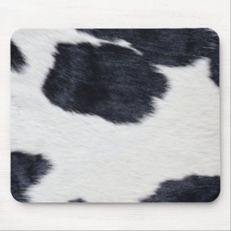 Western Style Cowhide Black/White Print Mouse Pad