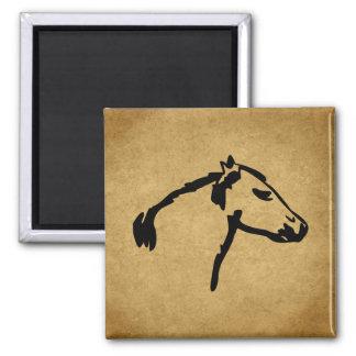 Western Style Horse Profile Fridge Magnet