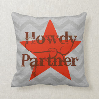 Western Style Pillow   Howdy Partner
