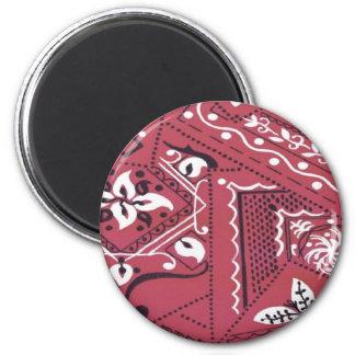 Western Style Red Bandana Print Fridge Magnet