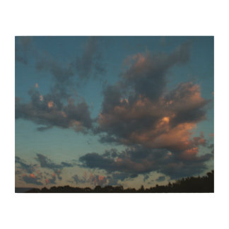Western Sunrise Sky and Clouds Summer 2016 Wood Wall Art