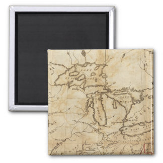 Western Territories of the United States Square Magnet