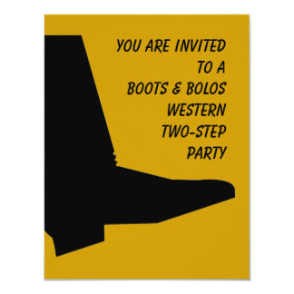 WESTERN TEXAS TWO-STEP THEMED PARTY INVITATION