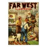 Western-theme 1928 Christmas Cards