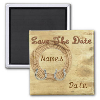 Western Theme Wedding Save the Date Magnets