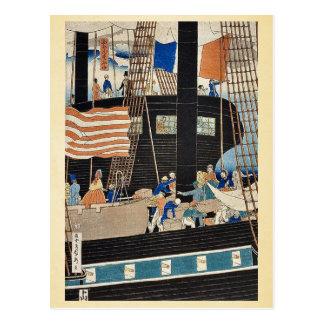 Western traders loading cargo by Utagawa,Sadahide Postcards