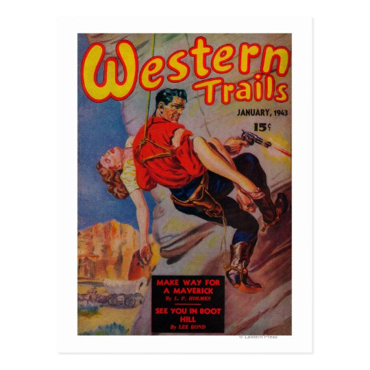 Western Trails Magazine Cover 3 Postcard
