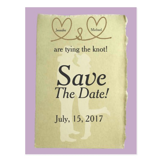 Western Tying The Knot Customisable Save The Date Postcard