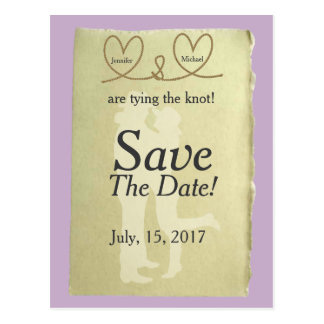 Western Tying The Knot Customizable Save The Date Postcard