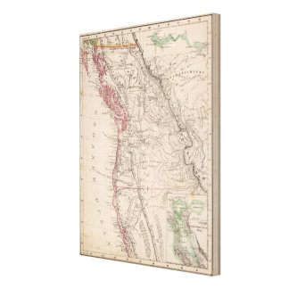 Western United States Stretched Canvas Print
