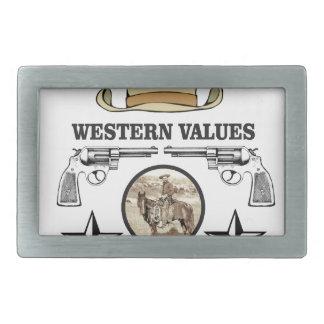 western value art belt buckle