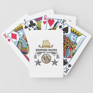 western value art bicycle playing cards
