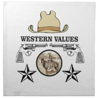 western value art napkin
