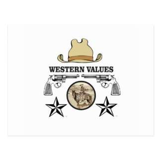 western value art postcard