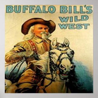 Western Vintage Buffalo Bill Art Print