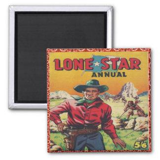 Western Vintage Cowboy Square Magnet