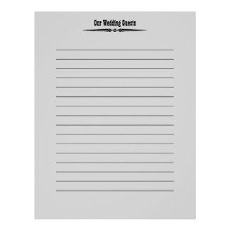 Western Wedding | Guest Registry Pages 21.5 Cm X 28 Cm Flyer