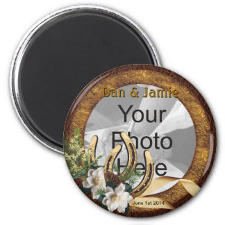 Western Wedding Save the Date Magnets