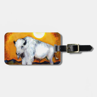 Western White Buffalo Luggage Tag