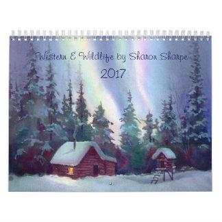 WESTERN & WILDLIFE SCENES 2016 by SHARON SHARPE Wall Calendars