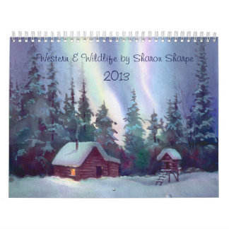 WESTERN & WILDLIFE SCENES by SHARON SHARPE Wall Calendars