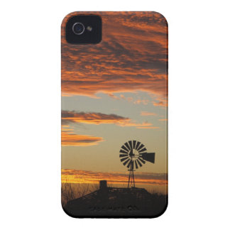 Western Windmill Sunset iPhone 4 Covers