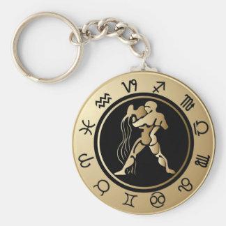 Western Zodiac - Aquarius Key Ring