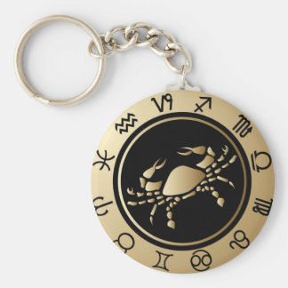 Western Zodiac - Cancer Key Ring