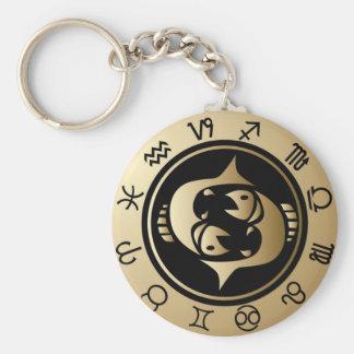 Western Zodiac - Pisces Key Ring