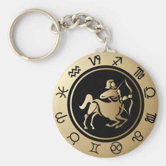 Western Zodiac - Sagittarius Key Ring
