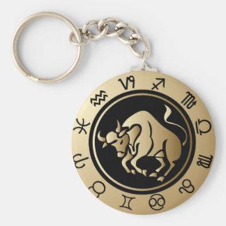 Western Zodiac - Taurus Key Ring