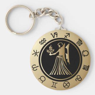 Western Zodiac - Virgo Key Ring