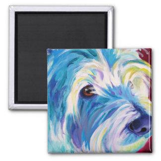 Westie #1 square magnet