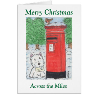 Westie Across the Miles Christmas Card