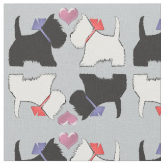 Westie and Scottie Dog Art Fabric