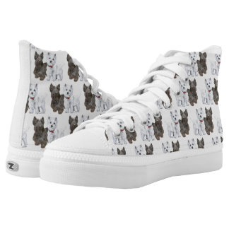 Westie and Scottie Dogs Printed Shoes