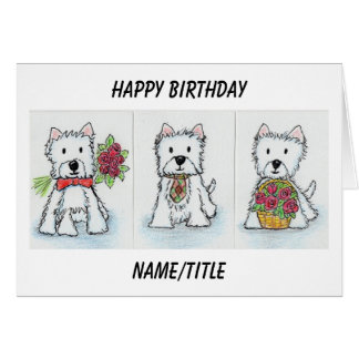 Westie Birthday card wife sister friend daughter