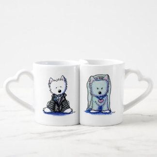 Westie Bride & Groom Sweetheart Mugs