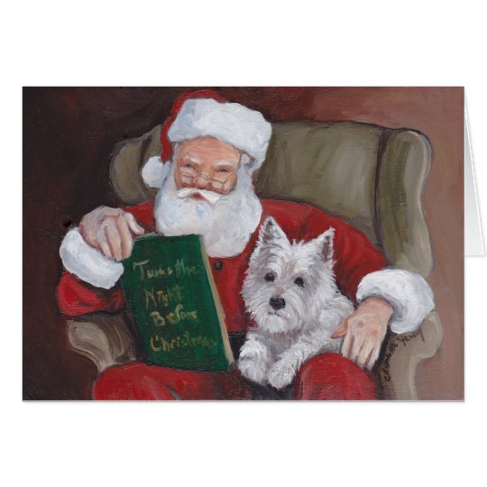 Westie Christmas Stories With Santa Greeting Card