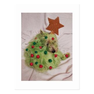 Westie Christmas Tree Postcard