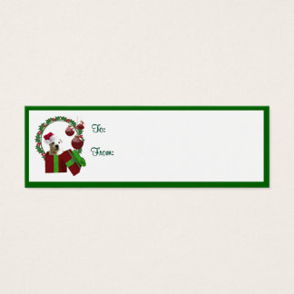 Westie Christmas Wishes Gift Tags Mini Business Card