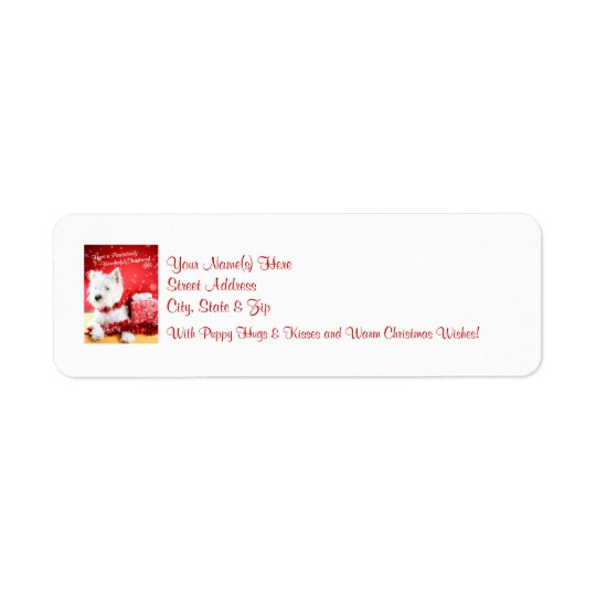 Westie Christmas Wishes Return Address Labels