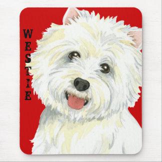 Westie Color Block Mouse Pad