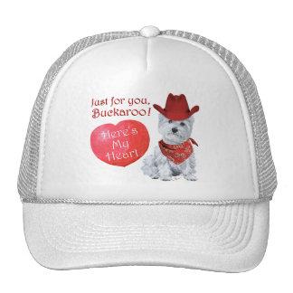 Westie Cowboy Valentine Cap