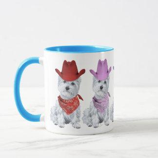 Westie Cowboys All in a Line Mug