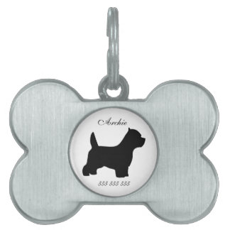 Westie custom name & phone no. pet dog id tag