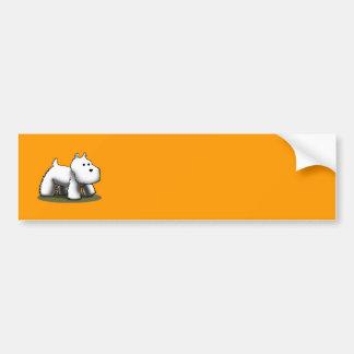 Westie Designer Bumper Sticker
